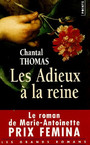 Book cover: Les adieux a la reine - THOMAS CHANTAL - 9782020868624