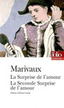 Couverture du livre La surprise de l'amour/ la seconde surprise de l'amour - MARIVAUX - 9782070314195