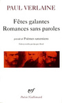 Couverture du livre Fetes galantes. romances sans paroles - VERLAINE PAUL - 9782070320530