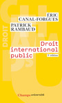 Couverture du livre Droit international public - Canal-Forgues Eric - 9782081386631