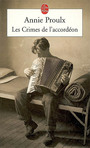 Couverture du livre Les crimes de l'accordeon - PROULX ANNIE - 9782253117377