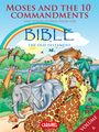 Couverture du livre Moses, the Ten Commandments and Other Stories From the Bible - Muller Joël - 9782511030912