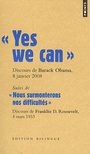 Couverture du livre Yes we can - Obama Barack - 9782757815007