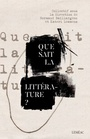 Book cover: Que sait la littérature? - LEMMENS KATERI - 9782760912366