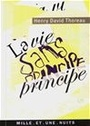 Book cover: La vie sans principe - THOREAU HENRY DAVID - 9782842058524
