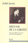 Book cover: Defense de la liberte - JASMIN JUDITH & BEAUCHAMP C.(P - 9782890525016