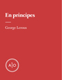 Book cover: En principes: George Leroux - Leroux George - 9782897592844