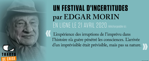 Image de Edgar Morin Tracts Temps incertains Gallimard